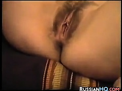 Hairy Russian Pussy Getting Fucked